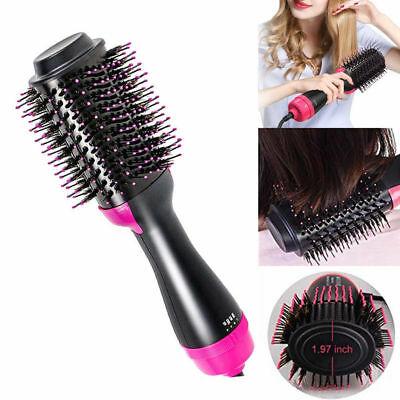 Hair Dryer and Volumizer One Step Curling Brush Comb Straightener Tool 3 in 1 GA