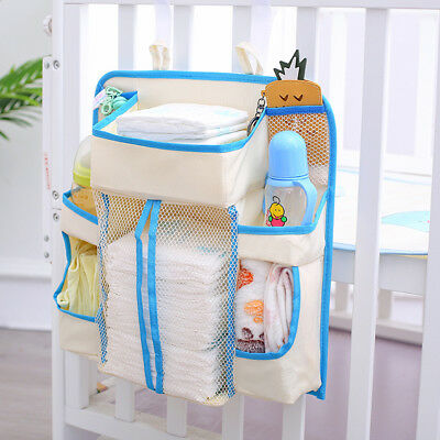 Baby Diaper Organizer Bed Hanging Storage Bottle Towel Toys Pacifier Container