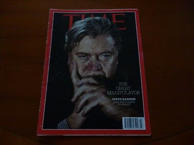 Time Magazine February 13 2017 Steve Bannon, Donald Trump, Federer *As Pictures*