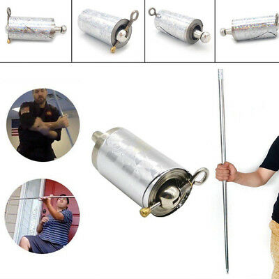 Silver Portable Stretch Metal Staff Magic Stick Fighting Stage Props Trick Tools