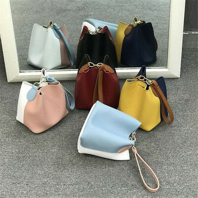 Fashion Patchwork Small Bucket Shape Dual Function Cross Body Bag for Women ONE