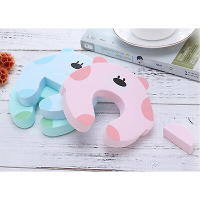 Safety Door Stopper Cartoon Animal Finger Baby Protect Decorative Holder N7