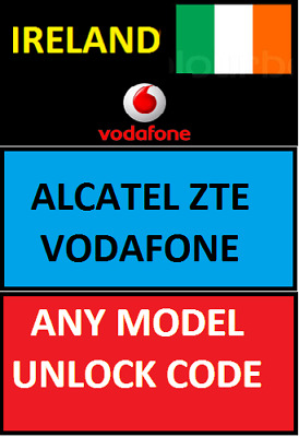 Unlock Code Ireland Alcatel Vodafone Vfd620 720 X9 Vfd820 Smart N9 Lite & More