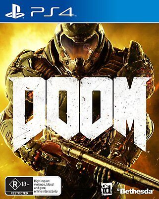 Playstation 4 PS4 Game Doom Game Bethesda First Person Shooter FPS R18