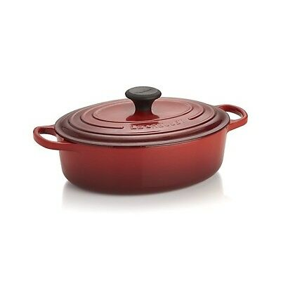 Le Creuset  Signature Cherry Red  Oval Wide Dutch Oven 3 1/2 Qt 3.5 NIB