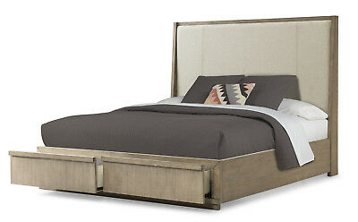 Klaussner Melbourne California King Storage Bed in Soft Gray 680-260