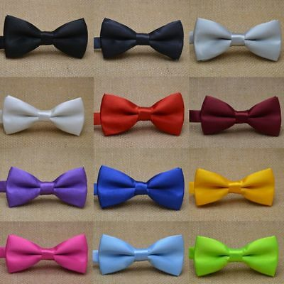 Kid Bowtie For Boys Girls Baby Children Fashion One size Polyester Solid Classic