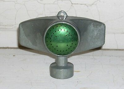 Vintage Small Garden Sprinkler, Metal w/ Green Center, Circular Spray, Steampunk