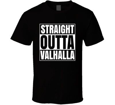 Straight Outta Valhalla Thor Odin Loki Norse Mythology Marvel T-shirt