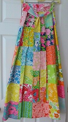 efd0c0e32 Lilly Lily Pulitzer Patchwork Wrap Reversible Long Maxi Skirt 50 Prints NEW  4-6
