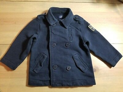 Boys Baby Gap Toddler 4 Years Navy Blue Button Pea Coat