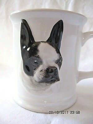 Boston Terrier Dog Mug Cup - 3-D - Porcelain - 4 in. - XPRES EXC.