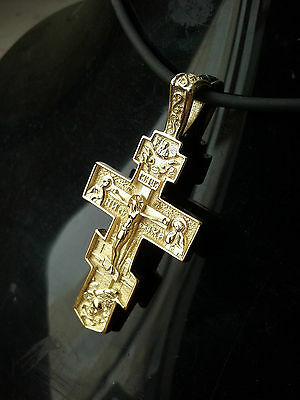 BIG Cross 9k-14k-18k yellow Gold Cross Russian-Greek-Orthodox Byzantine