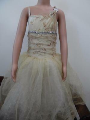 Dance Costume Child & Adult Sizes Gold Ivory Ballet Tutu Competition Pageant