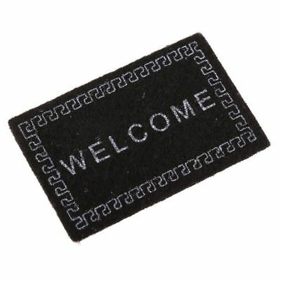 2X(Doll House Miniature carpet WELCOME Mat Dollhouse Accessories Home & Liv K2E8