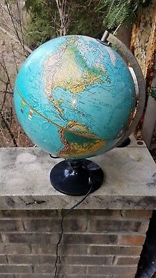 Vintage 1972 Scan Globe A/S Spot Scan Illuminated LIghted Denmark
