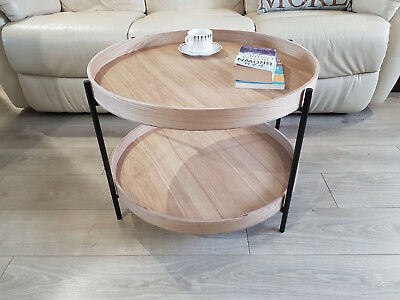 Scandi Two Tier Round Coffee Table 79 99 Picclick Uk