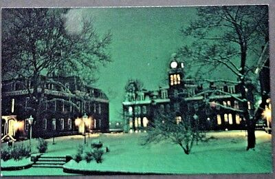 Morgantown WV West Virginia University Woodburn Circle on a Winter Night