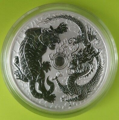 Silver 2018 DRAGON & TIGER - Pearl of Wisdom $1 Coin from Perth Mint