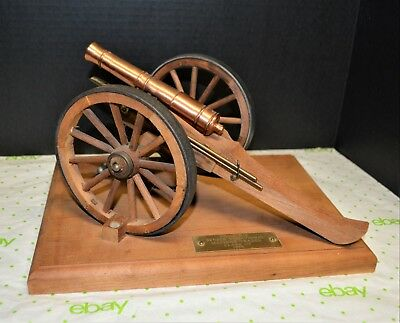 Vintage Civil War Replica Cannon 1975 Made by Machinist Vocational Senior Class