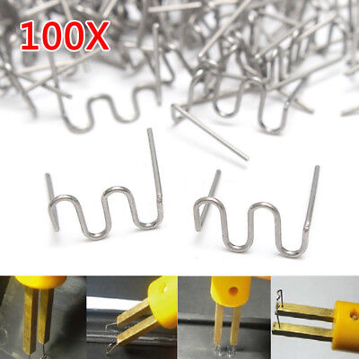 100 x Staples Bumper Fender Weld Gun Plastic Repair Kit For Repair Bumper Cracks