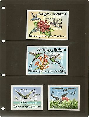 Antigua & Barbuda Miniature Sheets (21) With Useful Bird Issues