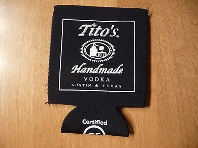 """I'd Rather Be Drinking Tito's"" Handmade Vodka 12oz Neoprene Beer Can Koozie NEW"