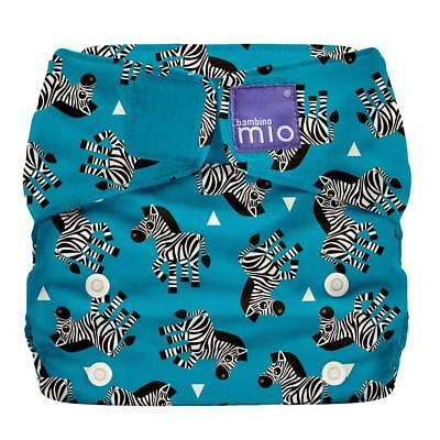 Zebra BNIP Bambino Mio Miosolo all-in-one reusable cloth nappies