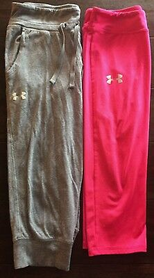 Under Armour Girls athletic Pants Capris Large GUC
