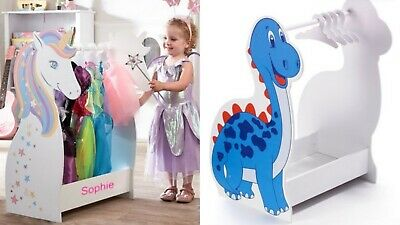 Children's Wooden Dressing Up Rail - Unicorn or Princess