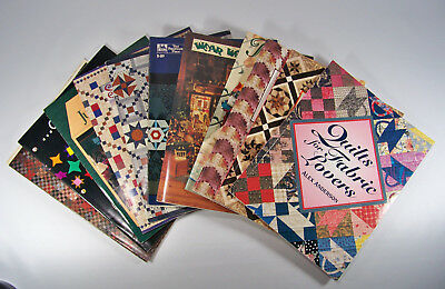 Quilting Books Lot of 11 Quilt Patterns Instructions Design