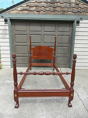 Vintage Mahogany Four Poster Twin Bed