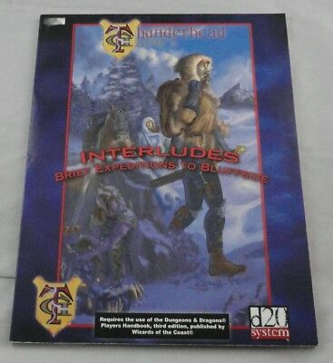 Dungeons and Dragons d20 3rd Ed: Interludes: Brief Expeditions to Bluffside
