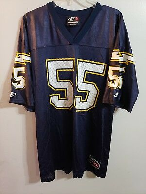 80bb715f4 Rare VTG 90s Logo Athletic NFL San Diego Chargers Junior Seau 55 Jersey  Mens XL
