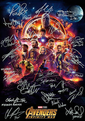 "Avengers Infinity War signature Movie Art Silk poster 8x12""24x36""24x43"""