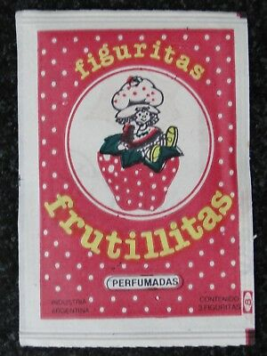 STRAWBERRY SHORTCAKE ARGENTINA TRADING CARD FULL PACK WITH PERFUM 1980s
