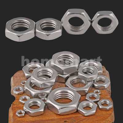NEW 304 Stainless Steel Hex Thin Nut Jam Nuts M3 M4 M5 M6 M8 M10 M12 M14 M20 3MM
