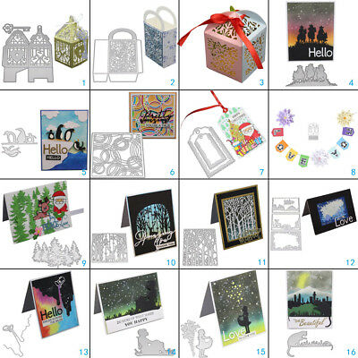 DIY 3D Box Metal Cutting Dies Stencil Scrapbooking Embossing Paper Card Craft