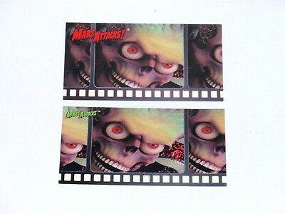 1996 Mars Attacks Widevision Promo Topps Green And Red Logo Card Set! No #!