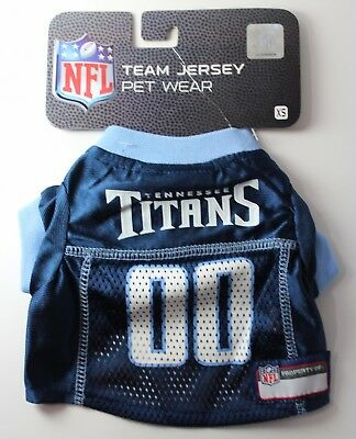 "Tennessee Titans Dog Pet Jersey Size Extra Small 6""-9"" NFL"