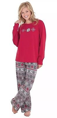 Pajamagram Nordic Fair Isle Cotton Jersey Women s Size SMALL Pajamas NWT aec6e5380