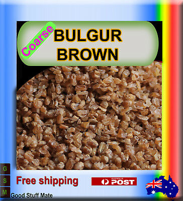 Au seller ORGANIC BULGUR Coarse PURE NATURAL STONE MILLED Premium Gurmet Quality