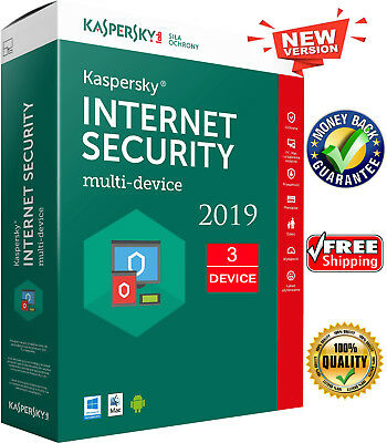 KASPERSKY INTERNET SECURITY 2019 3 PC/ User / 3 Device /1 Year/ Global Key 14.3$