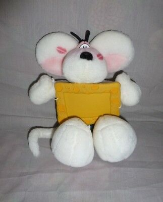 Peluche Doudou Diddl Kiss bisous + Cadre photo fromage TBE 20cm