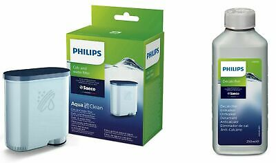 1 x SAECO Philips AquaClean + 1 x 250ml Saeco Entkalker Wartungs Set