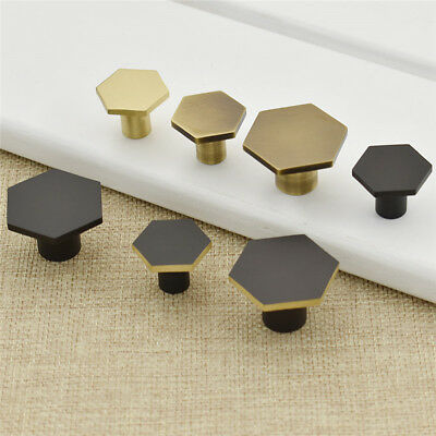 Hexagon Pull Cabinet Handle Drawer Door Knob Cupboard  Home Decor Supplies