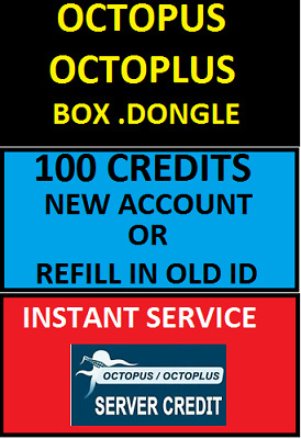 Octopus Octoplus New Or Refill100 Server Credits Instant Service