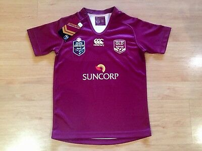 Qld Queensland Maroons 2015 State Of Origin Bnwt Kids On Field Jersey Size 10