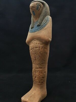ANCIENT EGYPTIAN ANTIQUE HORUS Falcon Large Statue Gods Hand Carved Stone 300 BC
