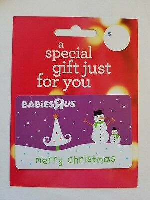 New Babies R Us Gift Card Merry Christmas Collectible Memorabilia